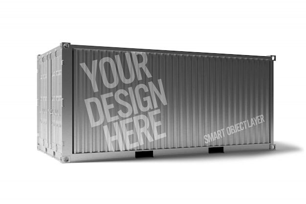 View of a shipping container