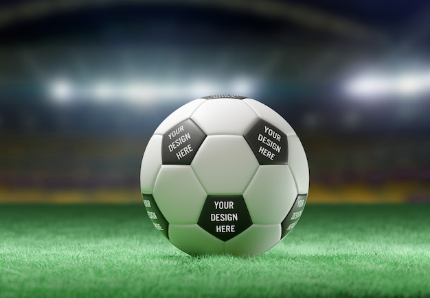 View of a soccer ball mockup