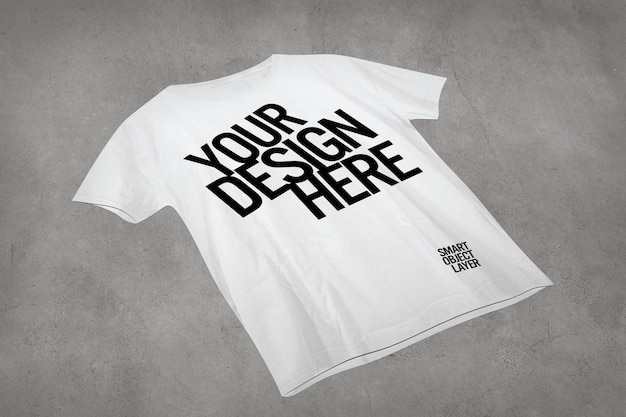 View of a white tshirt mock up