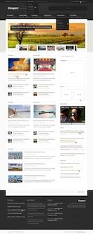 Viewport: журнал шаблона сайта (psd)