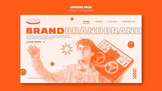 古着ブランドのランディングページ