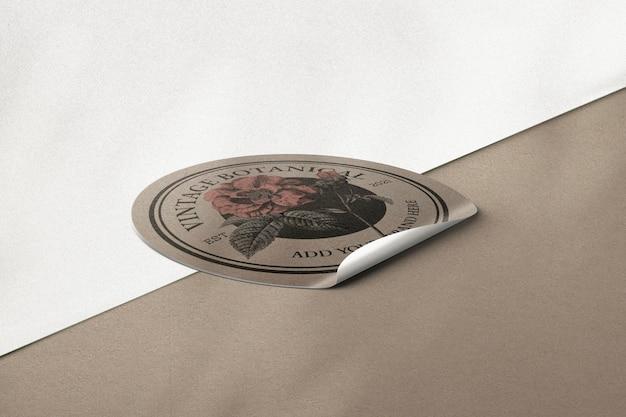 Винтажный конверт стикер psd макет
