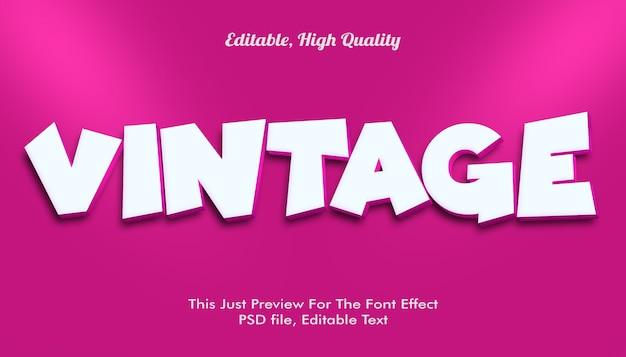Vintage font effect