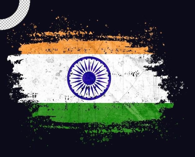 Винтажный флаг индии с мазком кисти
