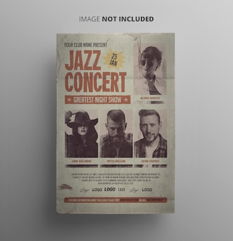 Vintage jazz flyer