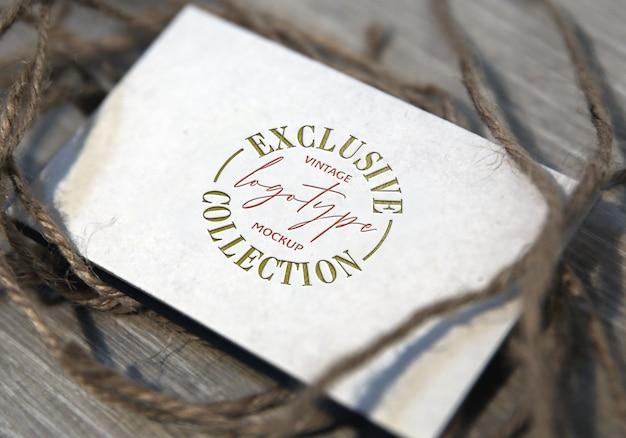 Эксклюзивная коллекция vintage logotype mockup