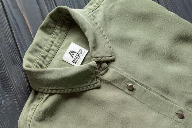 Disposizione di mock-up di accessori di merchandising vintage