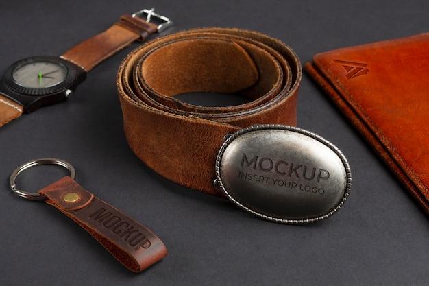 Vintage merchandising accessory mock-up assortment