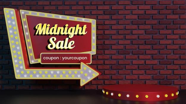 Vintage midnight sale badge podium