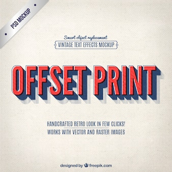 Vintage offset print lettering