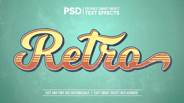Vintage old washed out paper editable text effect mockup
