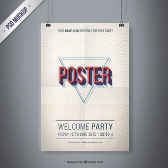 Vintage party poster mockup