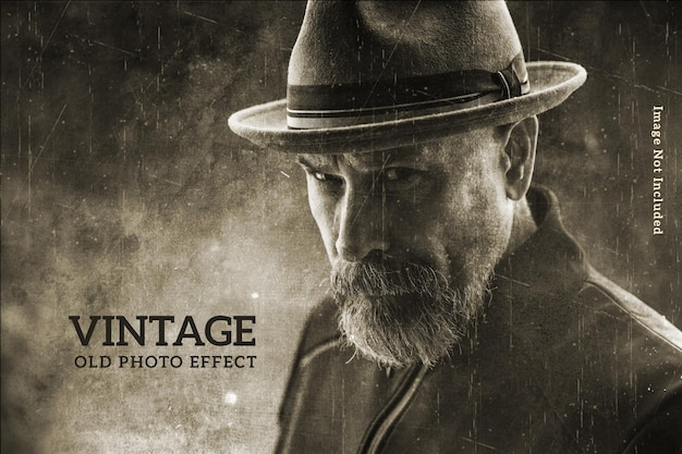 Vintage photo effect template