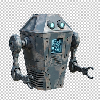 Винтаж реалистичный робот 3d-рендеринг