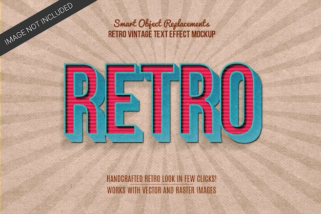 Vintage retro photoshop text effect layer style