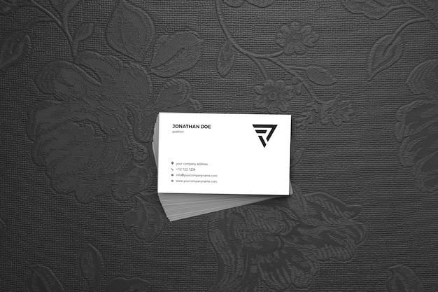 Винтажная роза с накоплением макет визитки