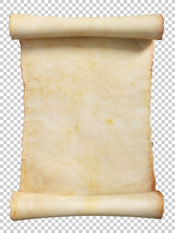 Vintage scroll or parchment manuscript 3d illustration
