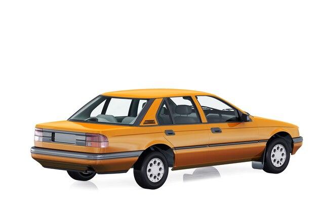 Vintage sedan car 1988
