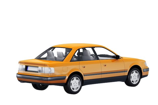 Vintage sedan car 1991