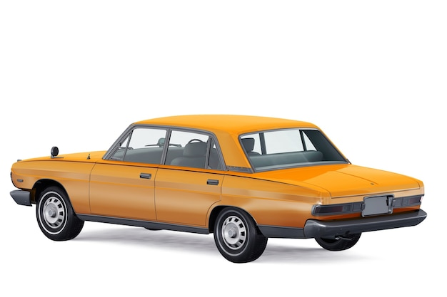 Mockup di auto berlina d'epoca