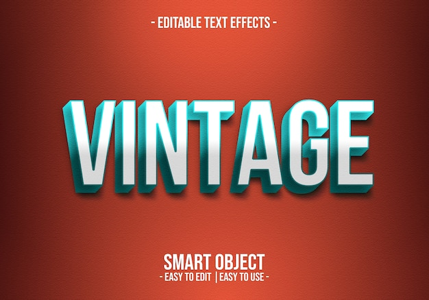 Vintage text style effect