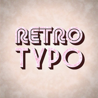 Vintage typography design