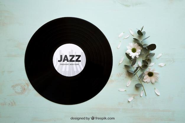 Виниловый и джазовый макет