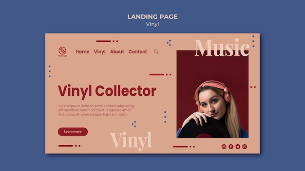 Vinyl collection landing page