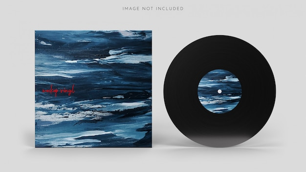 Vinyl lp record with a cover