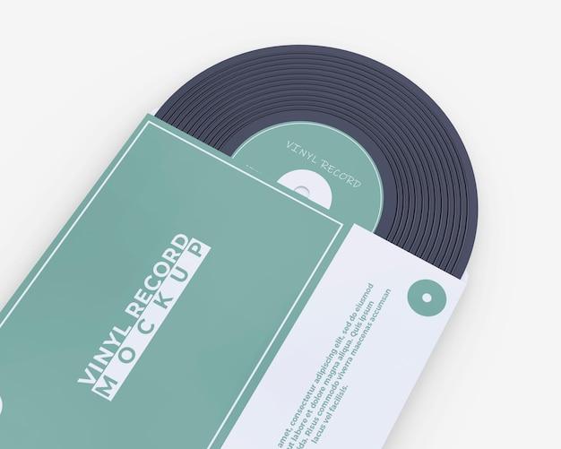 ビニールレコードカバーのモックアップ