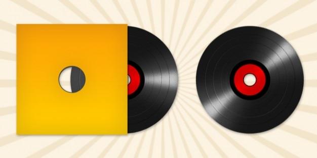 Vinyl record disc icon