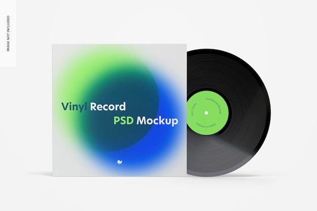 비닐 레코드 모형, 전면보기