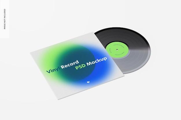 비닐 레코드 목업 무료 PSD 파일