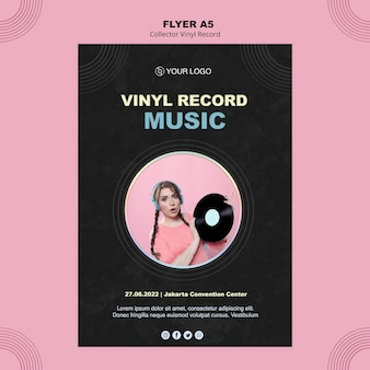 Vinyl record poster template