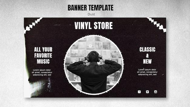 Vinyl store template banner
