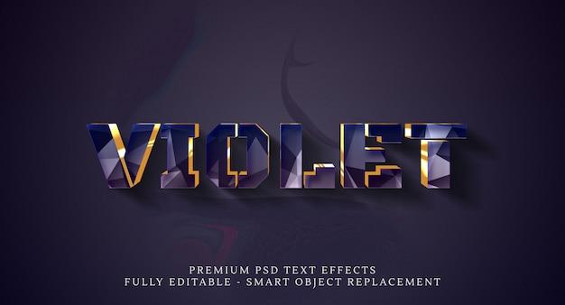 Шаблон эффекта стиля фиолетового текста