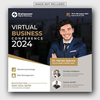 Виртуальные деловые социальные посты