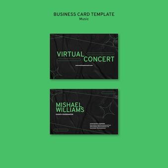 Virtual concert business card