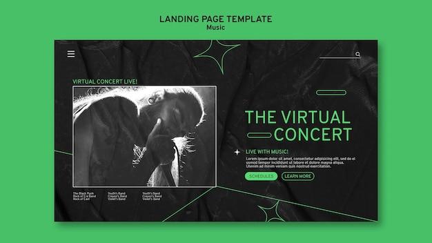 Virtual concert landing page