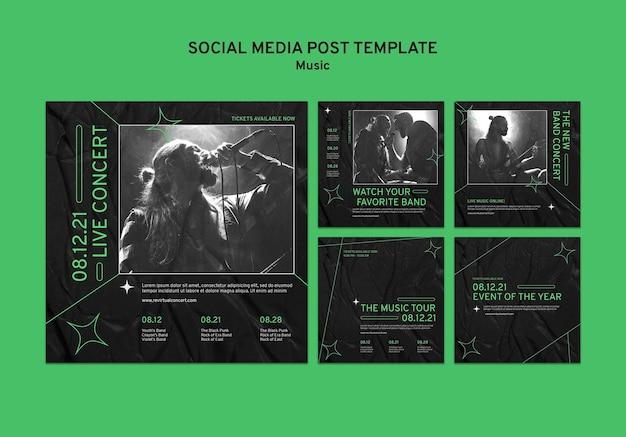 Virtual concert social media posts