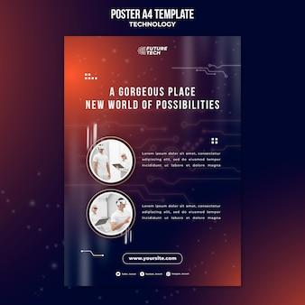 Плакат с технологией виртуальных очков