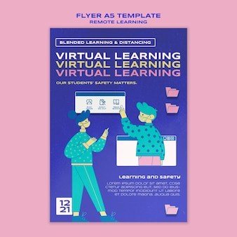 Virtual learning flyer template