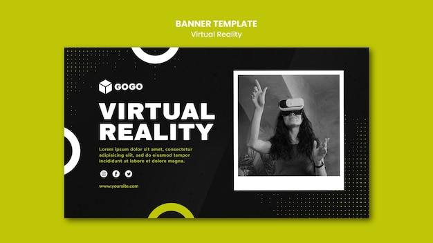 Virtual reality banner template