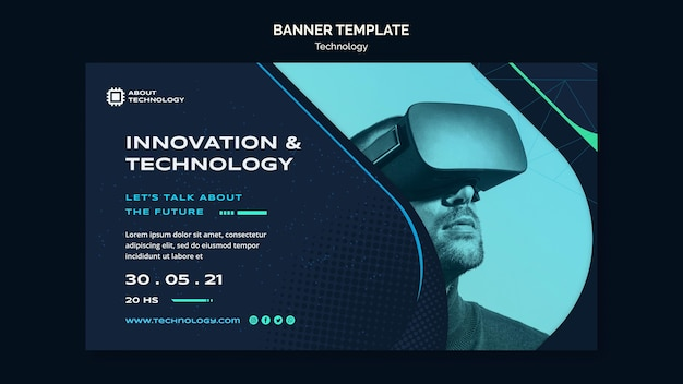 Virtual reality banner template Free Psd