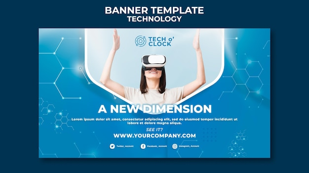 Virtual reality device banner template
