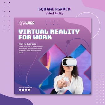 Virtual reality flyer template concept