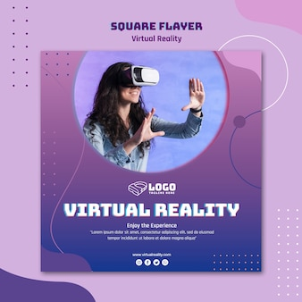 Virtual reality flyer template