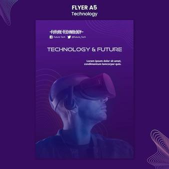 Шаблон флаера виртуальной реальности