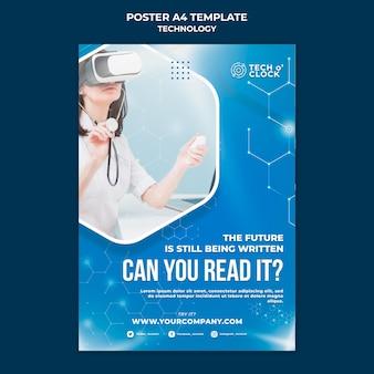 Шаблон плаката очков виртуальной реальности