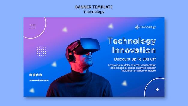 Горизонтальный баннер виртуальной реальности